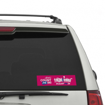 """""""Count Me In"""" 200 x 50mm Car Window Stickers (Personalised)"""