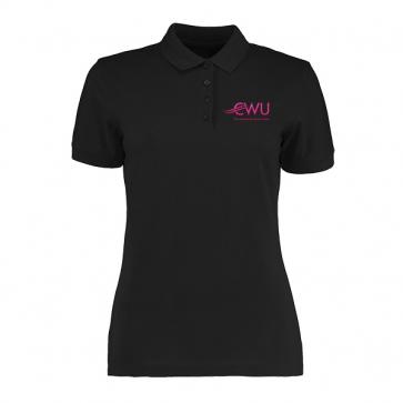CWU Ladies Black Polo Shirt