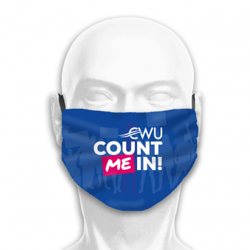 """""""Count Me In"""" 3 Ply Face Covering (Personalised)"""