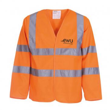CWU Hi-Vis Long Sleeve Waistcoat