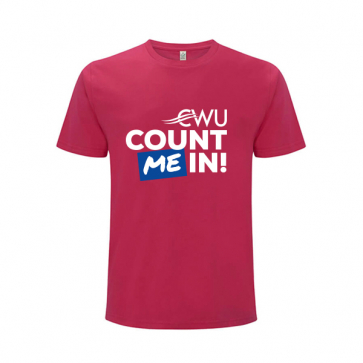 """""""Count Me In"""" T-Shirt (Personalised)"""