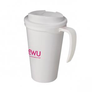 Americano Mug with Handle & Spill Proof Lid (Personalised)