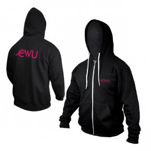 CWU Zipped Hoodie Black