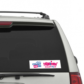 """Count Me In"" 240 x 60mm Car Window Stickers"