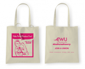 CWU Period Poverty Tote Bag