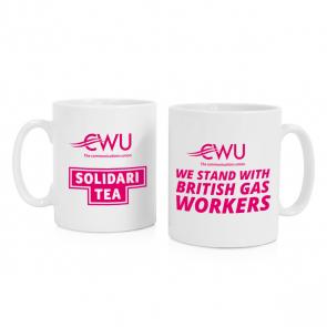 CWU Solidaritea Mug - We stand with British Gas Workers