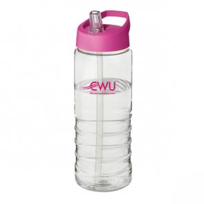 H2O Treble 750ml Spout Lid Sport Bottle (Personalised)
