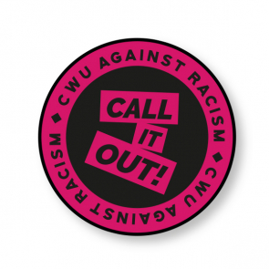 """CWU """"Call It Out"""" Sheet of Paper Stickers - 50mm"""