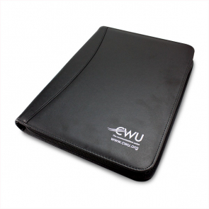CWU Black A4 Zipped Folder with Calculator